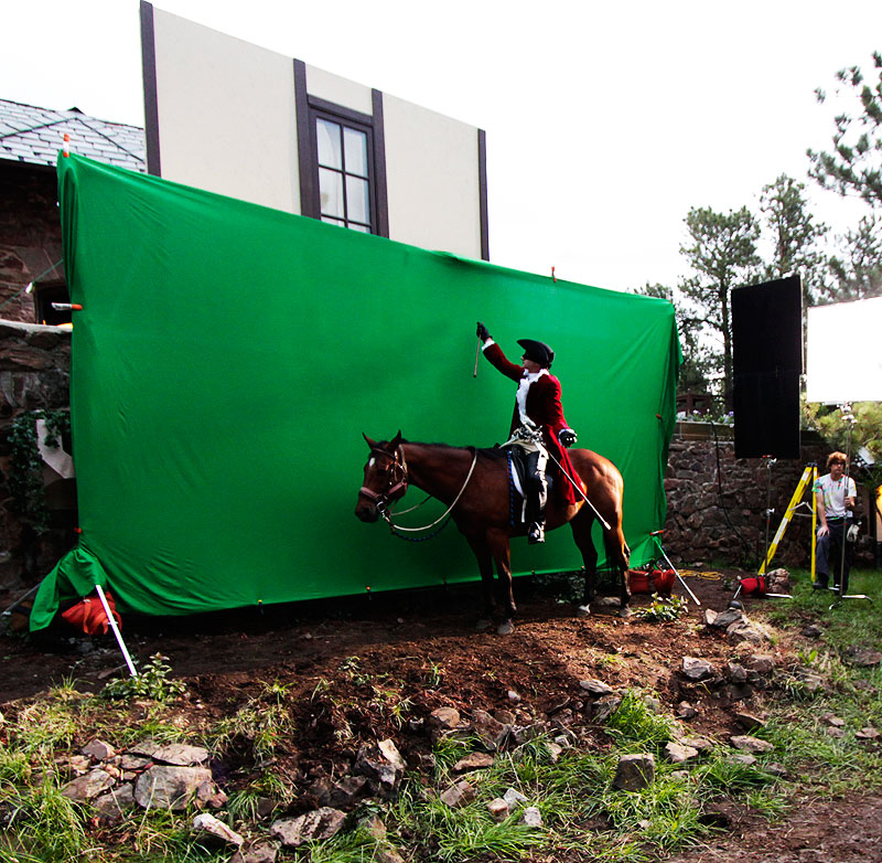 green screen for ghost horse