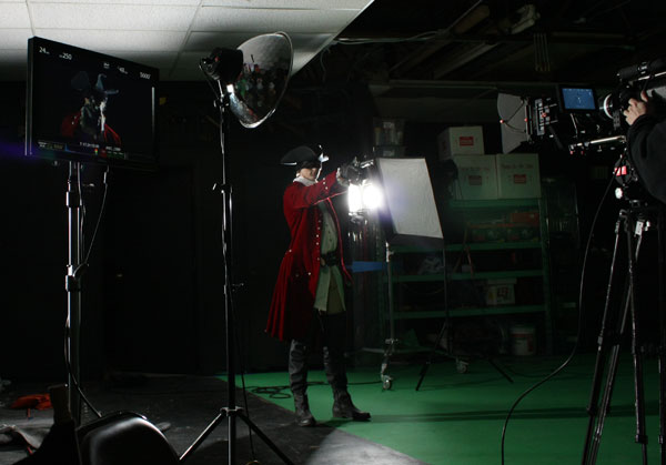 Macleish Day as the Highwayman shoots RED Camera as RED Camera shoots him