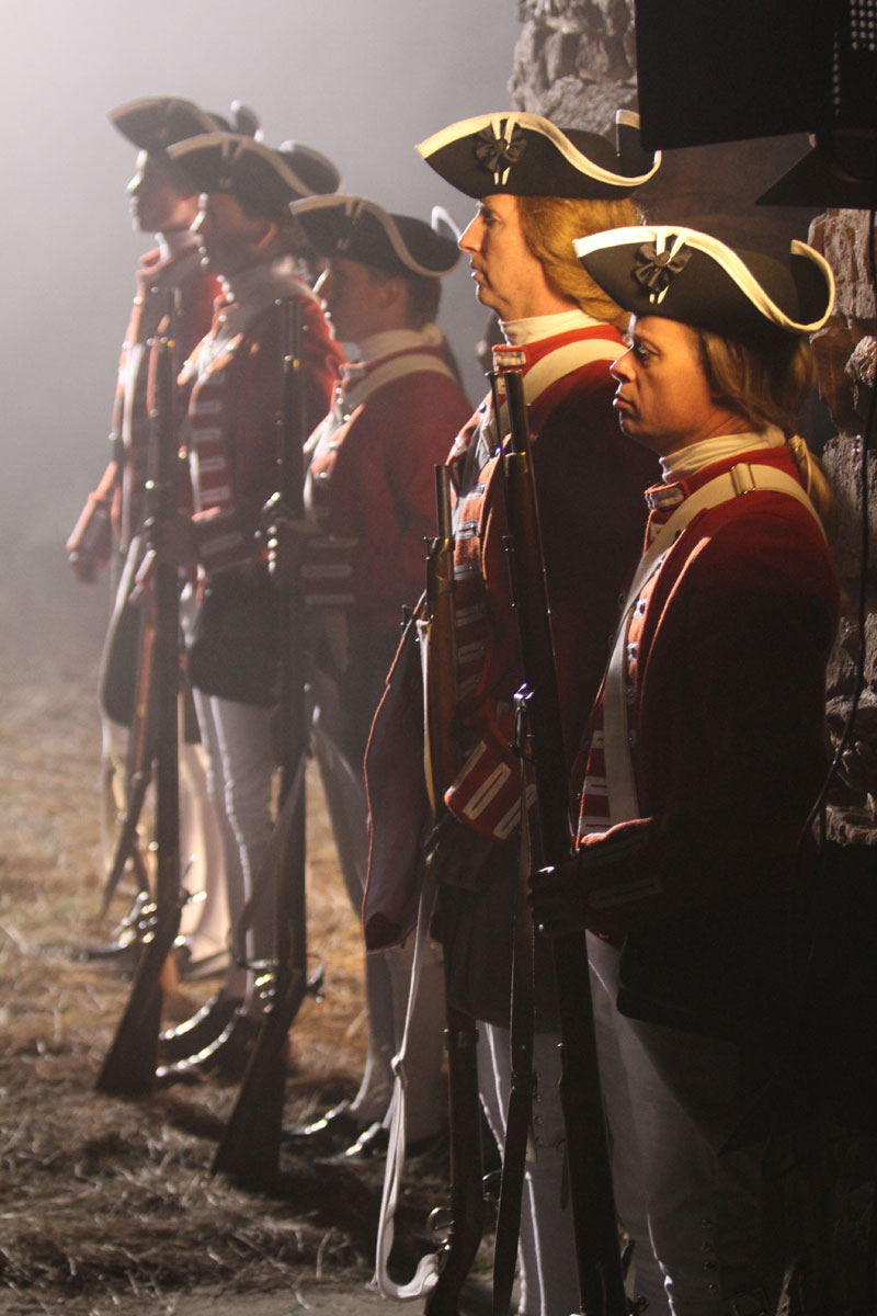 The line of redcoats