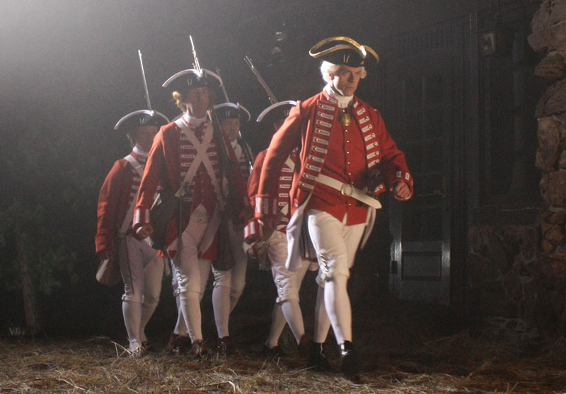 The redcoats come marching up to the old inn door