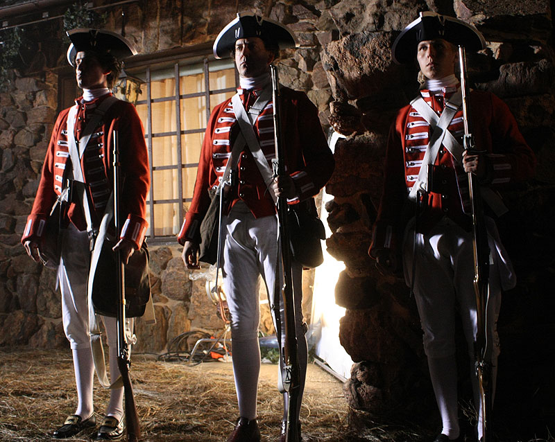 Redcoats guard the inn