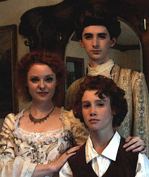 Christa Cannon as Lady Catherine, Macleish Day as Sir Malcolm Stiles 
