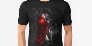 Highwayman Claret Velvet tshirt